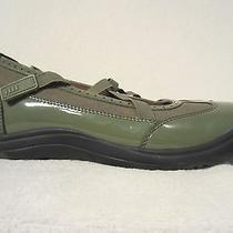Land's End Shoes Mary Jane Loafer Sneaker Boat Shoes W/ Velcro Band Euc Sz 8 Photo