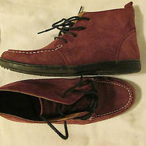 Land's End Suede High-Top Shoes Mauve Size 8b in Very Good Condition Photo