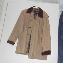 Land's End Tan & Corduroy Barn Jacket  Photo