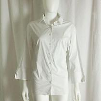 Land's End White Dress Shirt Women's 16 Photo