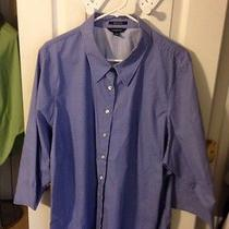 Lands End 26 W Blouse. Wrinkle Free Broadcloth. Photo