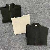 Lands End Black Fleece Jacket Mens Size Xl Eddie Bauer Sweater & Columbia Lot 3 Photo