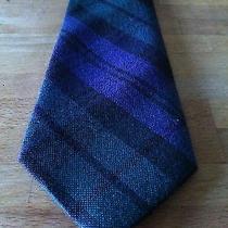 Lands End Black Watch 100% Wool Tie Scotland Campbell Tartan Bagpiper Plaid  Photo
