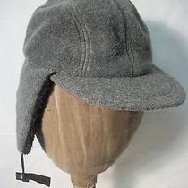 Lands End Bomber Hat Cap Size M 7 1/8 7 1/4 Bill Earflaps Ski Trapper Hat Photo