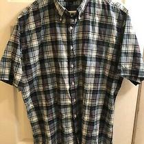 Lands End Button Down Shirt Mens Large 16 - 16 1/2 100% Cotton Photo