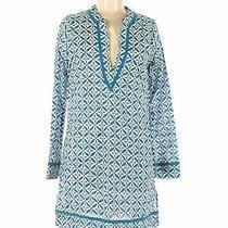Lands' End Canvas Women Blue Casual Dress 6 Photo