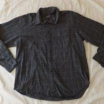 Lands' End Casual Shirt  Gray Plaid  Long Sleeve  Collar  Xl  17 - 17.5 Photo