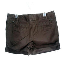 Lands' End Chino Brown Shorts W/ Cuff Regular 12 Nwt Photo