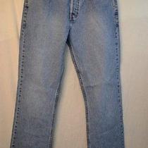 Lands' End Dark Denim Cotton Cotton Blend Jeans Size 14 Photo