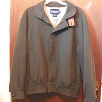 Lands End Dark Green Wool Jacket Size Medium-Free Shipping-Zero Wear Photo