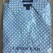 Lands' End Dress Shirt Size 0 (2 Extra Small) Petite New Ship Free 3/4 Sleeve Photo