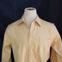 Lands End Fall Color Yellow Great Mens Career Dress Shirt Nice Size Xl 16 312 Photo