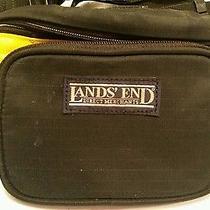 Lands' End Fanny Waist Pack Pouch Hands Free Bag Belt Yellow Black Nylon Travel Photo