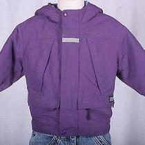 Lands' End Girls Purple Polartec Ski Coat W/ Fleece Lining Size 18m Cute Euc Photo