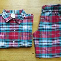 Lands End Girls Red Green Plaid Pajamas Sz 14 Mint Condition Euc Photo