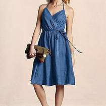 Lands' End Halter Dress Size 4 (Small) New Free Shipping Belted Flirty Linen  Photo