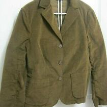 Lands End Jacket Brown Women's Blazer Size 14 Brown New Without Tags Photo