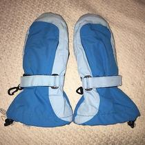 Lands End Kids Blue Squall Mittens Small Photo