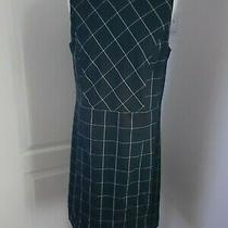 Lands' End Ladies Navy Check Shift Dress - Size 14/16 Photo