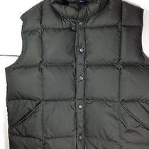 Lands End Men's Down Puffer Vest W/ Pockets Black Sz Xl 46-48 -Vguc Photo