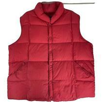 Lands End Mens Red Vest Size Xxl Jacket Down Filled 27 X 27 - Flawed Photo