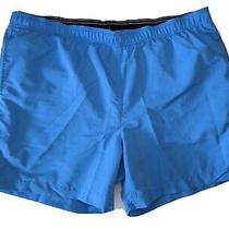 Lands' End Men's Swim Shorts Size Xl X-Large Blue Trunks Side & Inside Pockets Photo