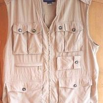 Lands End - Mens Khaki Travel Hunting Fishing Photography Vest Size L (42-44) Photo
