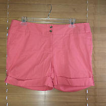 Lands' End Pink Casual Shorts W/cuffed Hem Size 16 Photo
