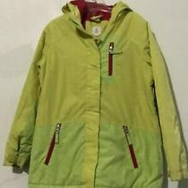 Lands' End Size M 10-12 Girls Green Kids Lime Lemon Hoodie Coat Winter Photo