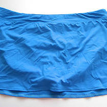 Lands End Skirted Bathing Swim Suit Bottom Skirt 24w Pool Blue Bikini New Flaw  Photo