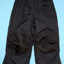 Lands End Snow Pants 4 Black Lined Reinforced Knees Seat Waterproof Boys Girls Photo
