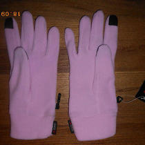 Lands' end.woman's Lavender Pink Polartec Aircore 100 Ez Touch Gloves L-Xl..nwt Photo