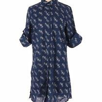 Lands' End Women Blue Casual Dress 2 Photo