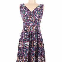 Lands' End Women Blue Casual Dress S Photo
