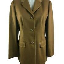 Lands' End Women's Light Brown 100% Cashmere Blazer Jacket 3 Button Size 8 Nwot Photo