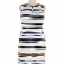 Lands' End Women White Casual Dress 16 Photo