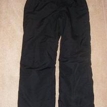 Lands End Womens Black Snowboarding Ski Pants Size 10 Waterproof Photo