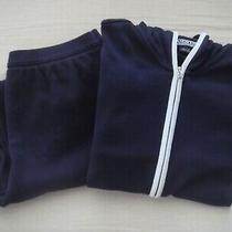 Lands' End Womens Navy Soft Knit 2 Pc Jacket & Pant Sz S  Photo