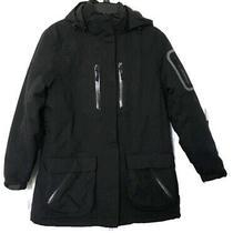 Lands End Womens Size Xs Primaloft Parka Coat Jacket Removable Hood Black Photo