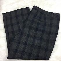 Lane Bryant 28 Nwot Plus Womens Gray Blue Checkered Dress Pants Photo