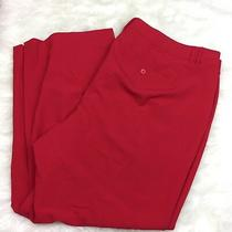 Lane Bryant 28 Nwot Plus Womens Red Holiday Modern Fit Dress Pants Photo