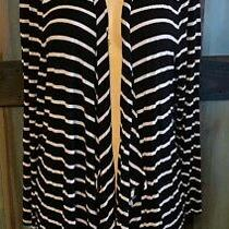 Lane Bryant Black White Stripe Cardigan Duster Sweater 18 20 2x Photo