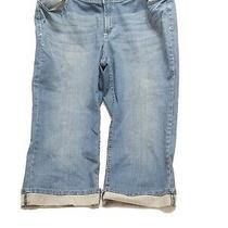 Lane Bryant Blue Denim Capris Womens Plus Size 22 Light Wash Photo