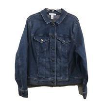 Lane Bryant Blue Stretchy Pockets Long Sleeve Casual Jean Jacket Coat Plus 18 Photo