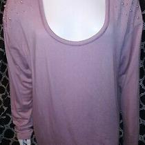 Lane Bryant Blush Pink Top Sz 18/20 Beaded Shoulders Photo