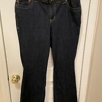 Lane Bryant Boot Cut Dark Blue Jeans Average 14 Photo