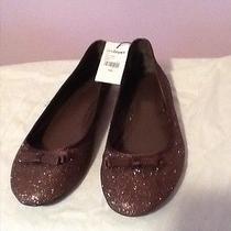 Lane Bryant Brown Shimmer/glitter Ballet Flats Size Women's Sz 10 Wide Photo