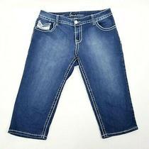 Lane Bryant Capri Denim Jeans Womens Size 16 Stretch Pants Medium Wash Blue Photo