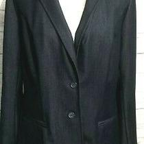 Lane Bryant Career Jacket Blazer Size 14 Navy Blue 2 Button Career Stretch Photo