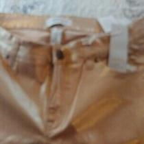 Lane Bryant Coated Gold Mid Rise Super Stretch Jeans Size 14 New Photo